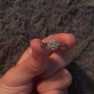 Real Diamond, Sterling Silver Engagement Ring